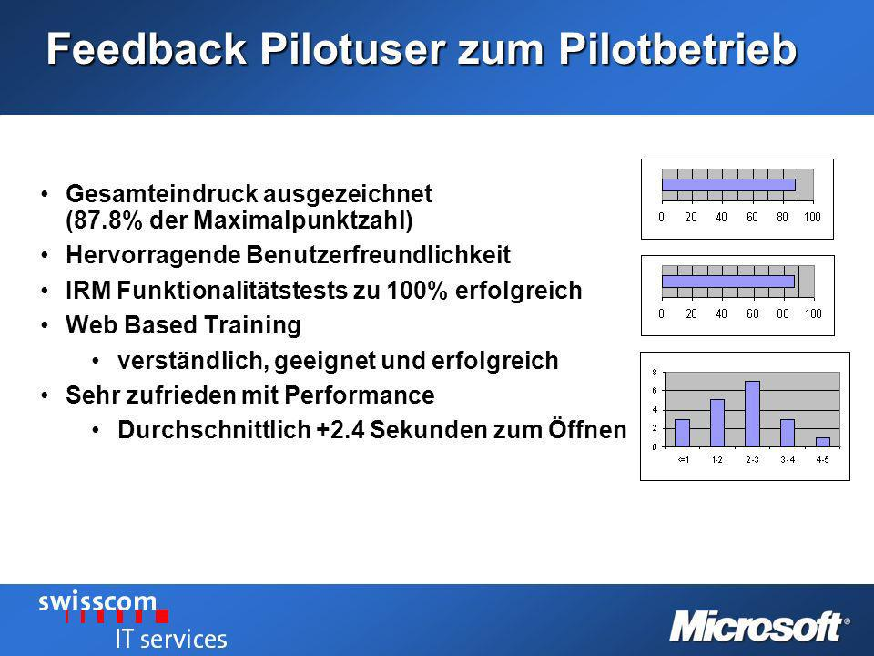Feedback Pilotuser zum Pilotbetrieb