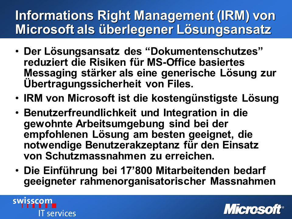 Informations Right Management (IRM) von Microsoft als überlegener Lösungsansatz