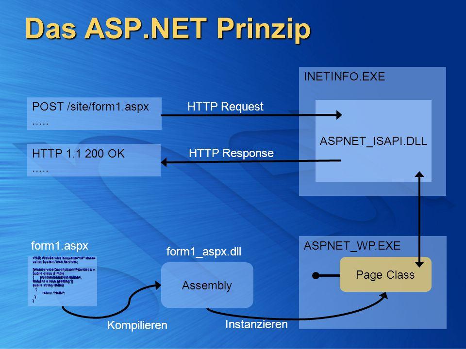 Das ASP.NET Prinzip INETINFO.EXE POST /site/form1.aspx .....