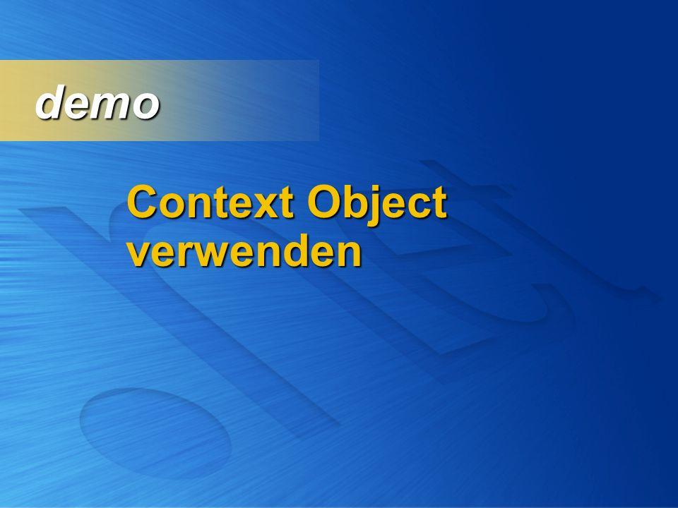 demo Context Object verwenden