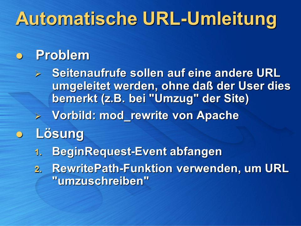 Automatische URL-Umleitung