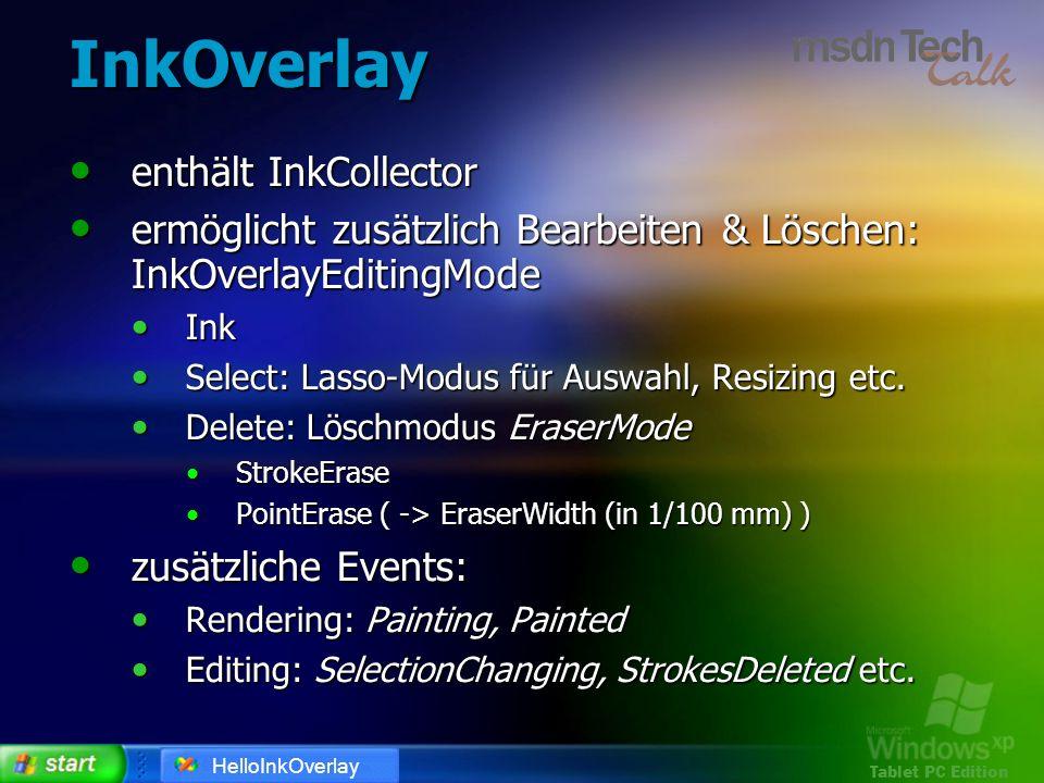 InkOverlay enthält InkCollector