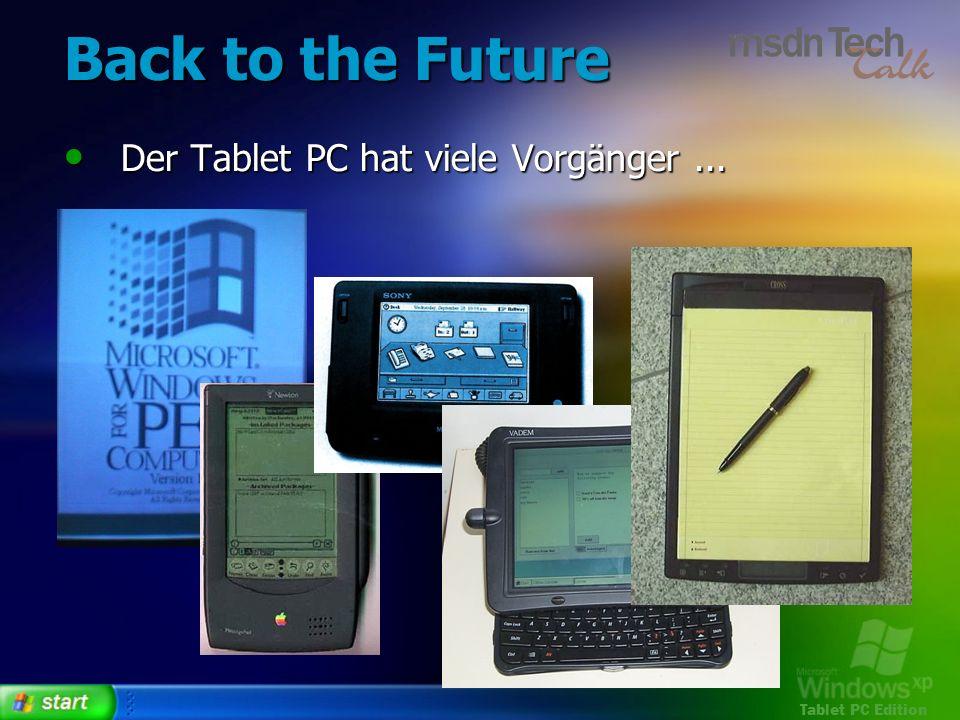 Back to the Future Der Tablet PC hat viele Vorgänger ...