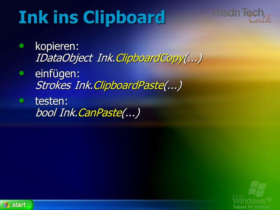 Ink ins Clipboard kopieren: IDataObject Ink.ClipboardCopy(...)