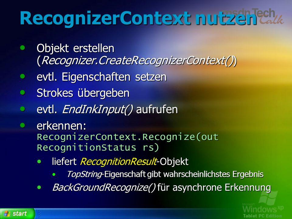 RecognizerContext nutzen