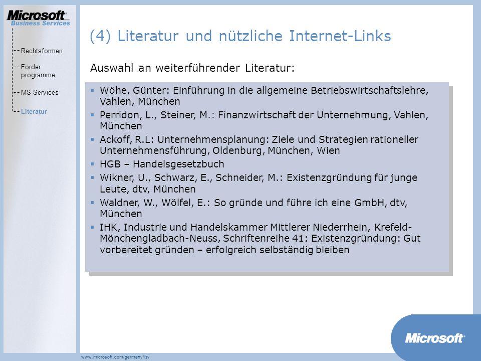 (4) Literatur und nützliche Internet-Links