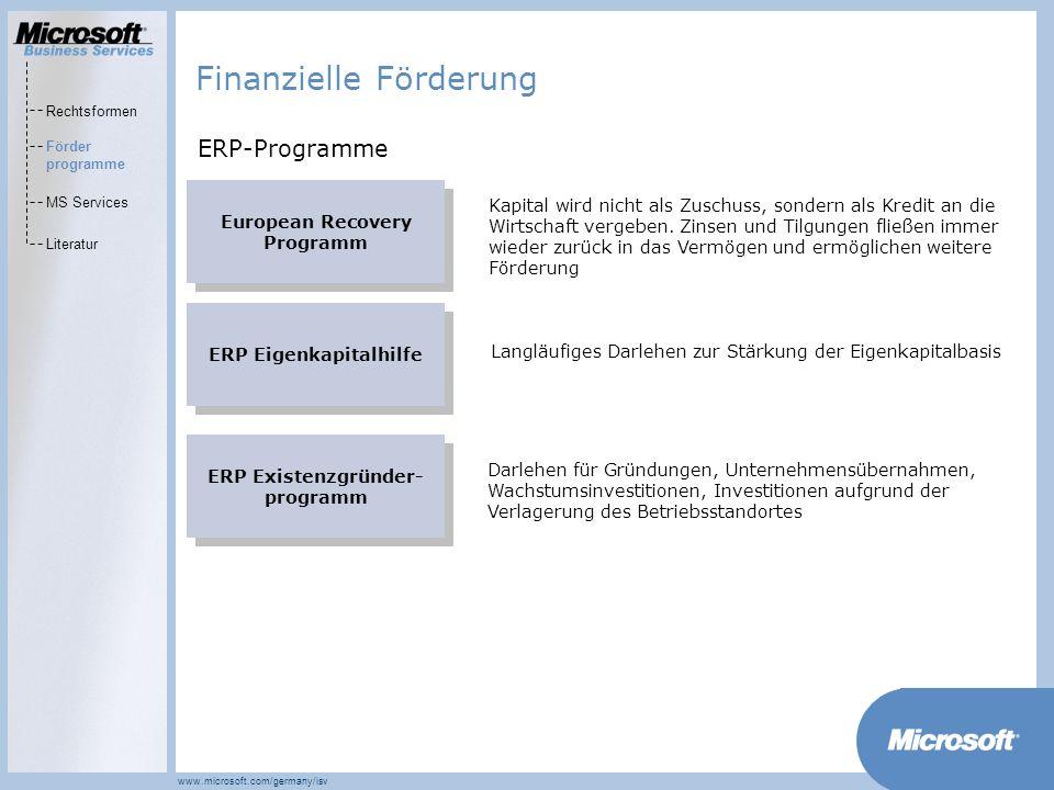 Finanzielle Förderung