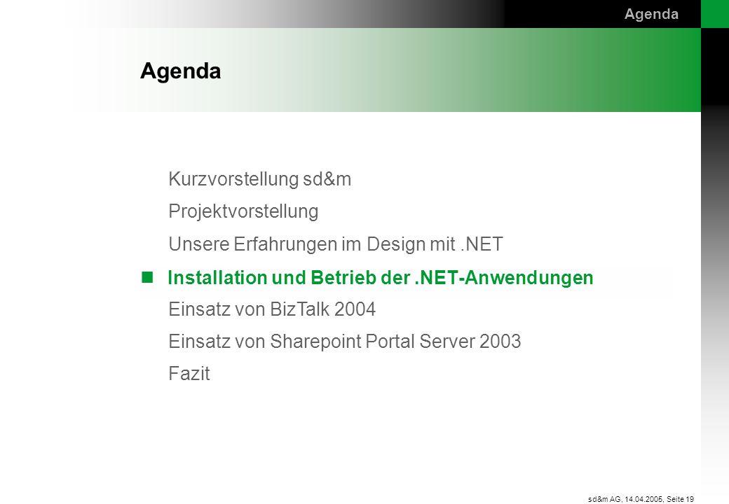 Installation und Betrieb der .NET-Anwendungen