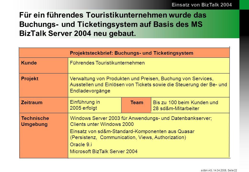 Einsatz von BizTalk 2004