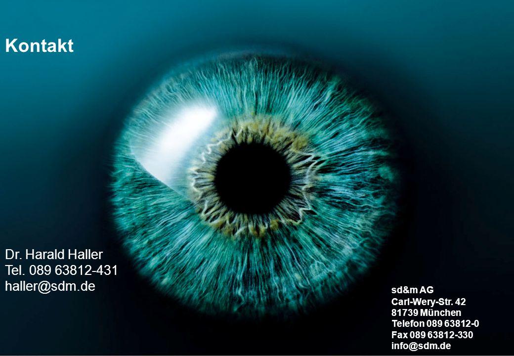 Kontakt Dr. Harald Haller Tel. 089 63812-431 haller@sdm.de sd&m AG
