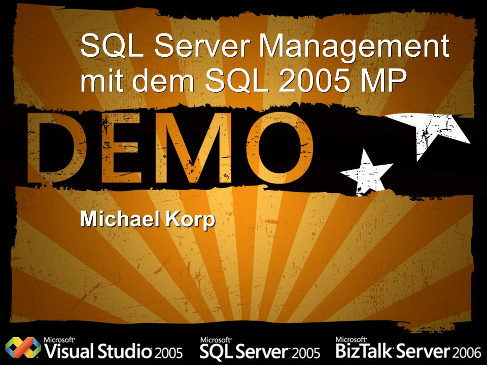 SQL Server Management mit dem SQL 2005 MP