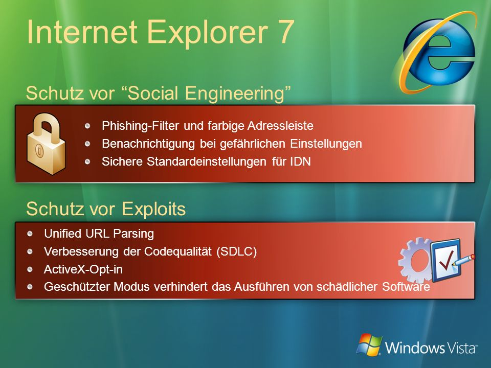 Internet Explorer 7 Schutz vor Social Engineering