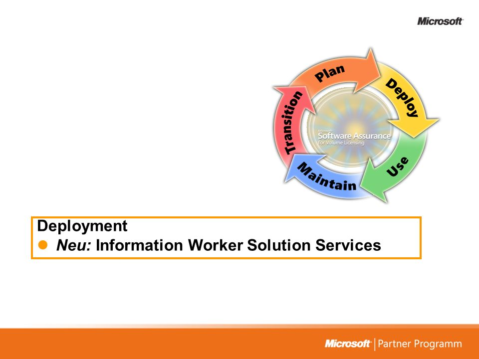 Deployment Neu: Information Worker Solution Services