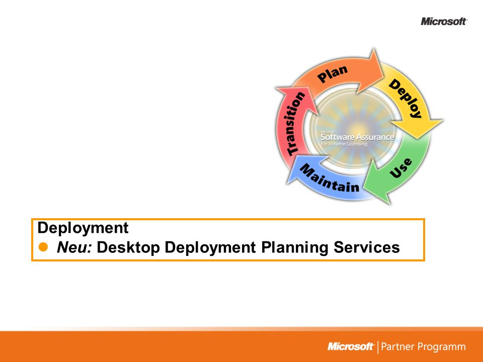Deployment Neu: Desktop Deployment Planning Services