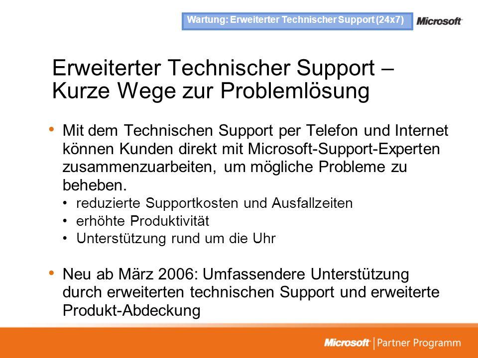 Erweiterter Technischer Support – Kurze Wege zur Problemlösung