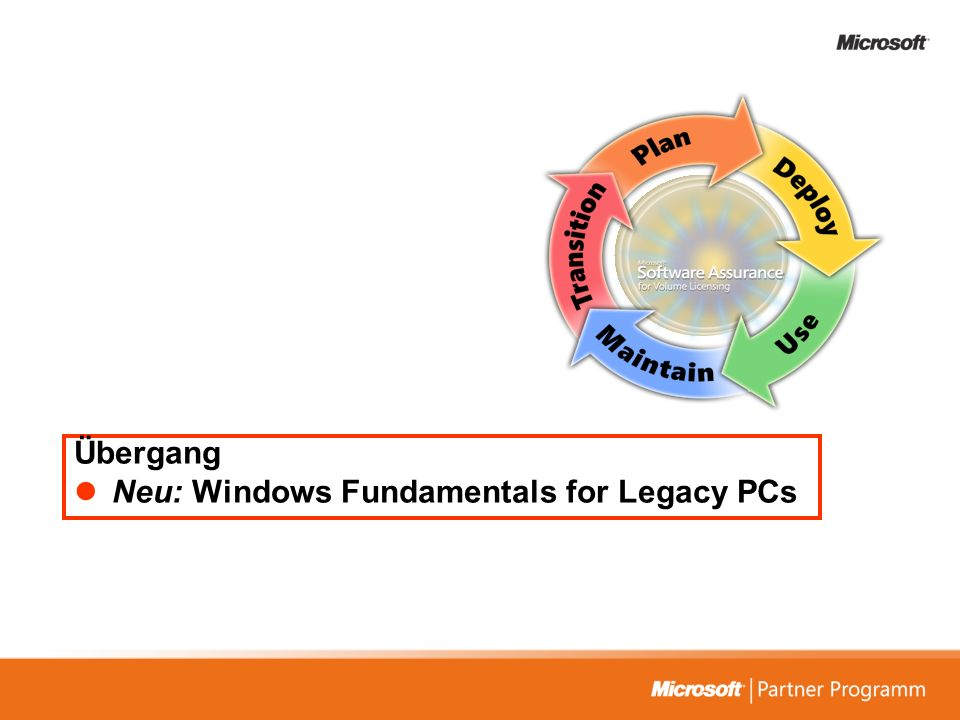 Übergang Neu: Windows Fundamentals for Legacy PCs