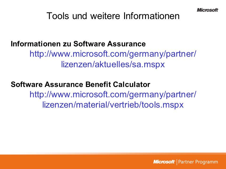 Tools und weitere Informationen
