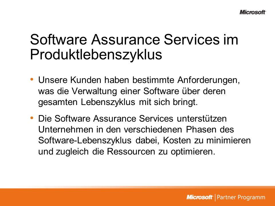 Software Assurance Services im Produktlebenszyklus