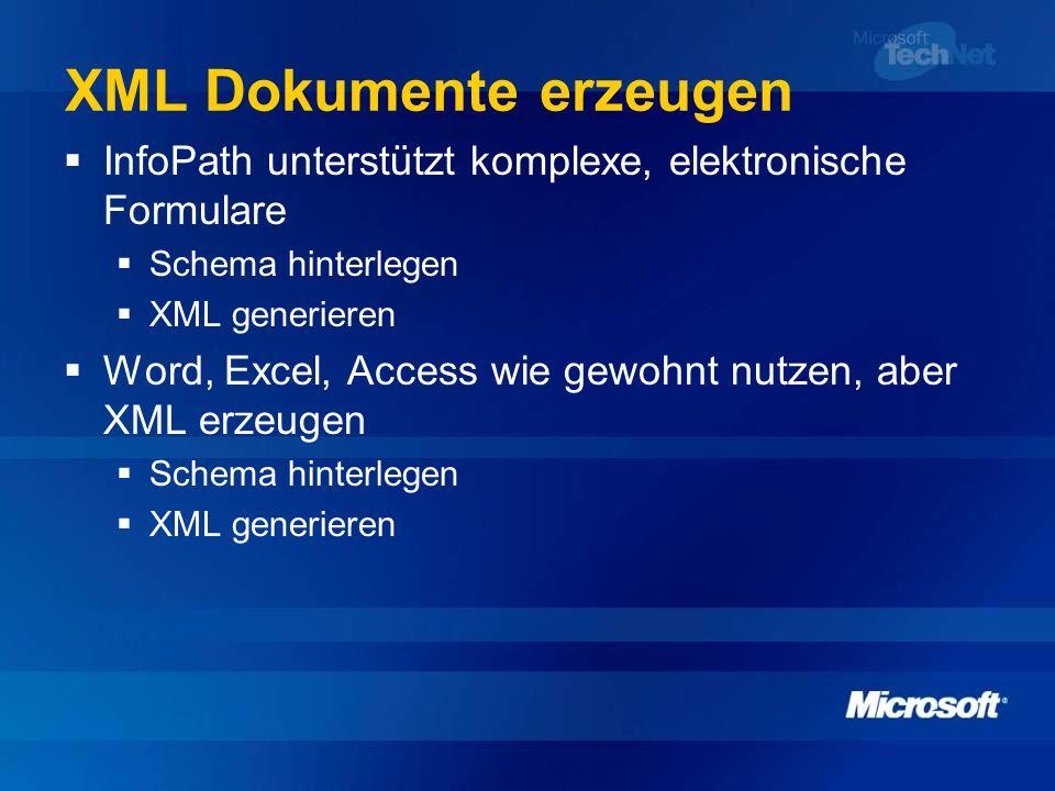 XML Dokumente erzeugen