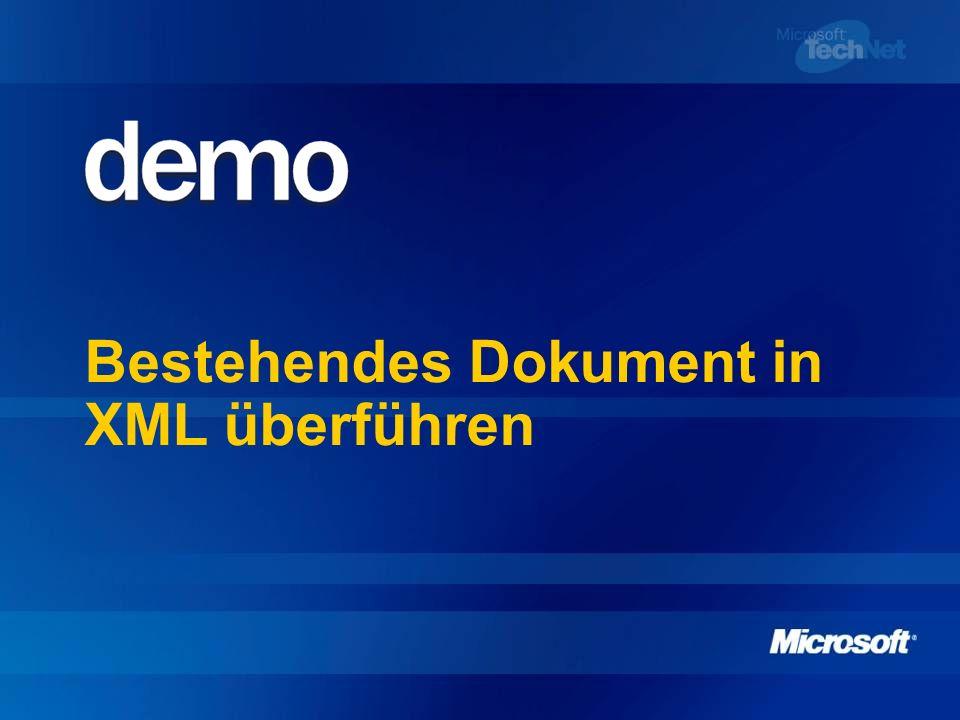 Daten fließen lassen: XML in Microsoft Office 2003