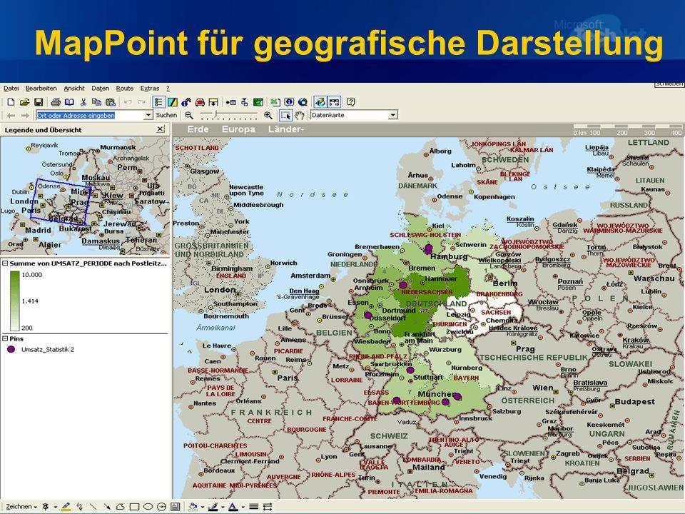 MapPoint für geografische Darstellung