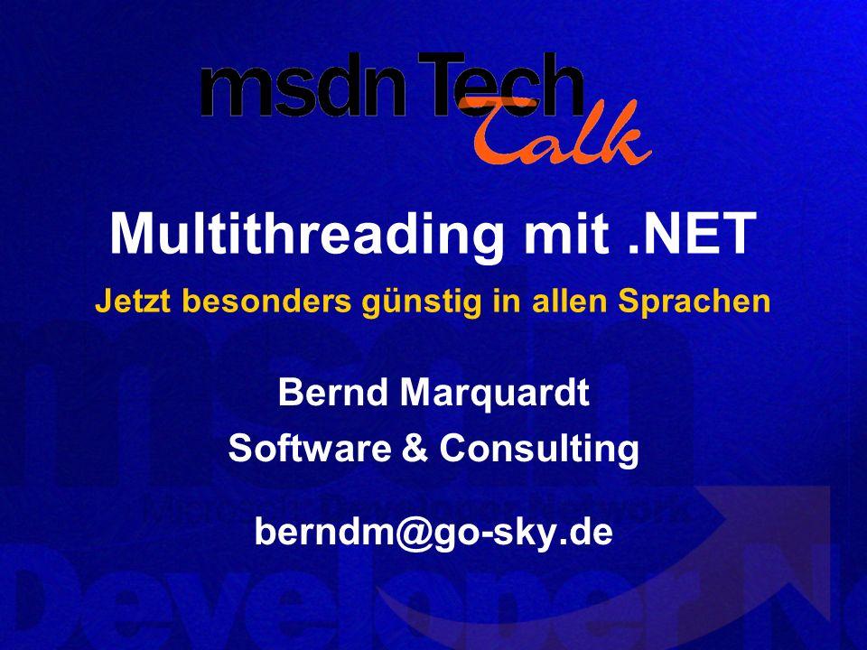 Multithreading mit .NET Jetzt besonders günstig in allen Sprachen