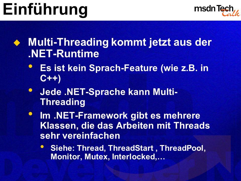 Einführung Multi-Threading kommt jetzt aus der .NET-Runtime