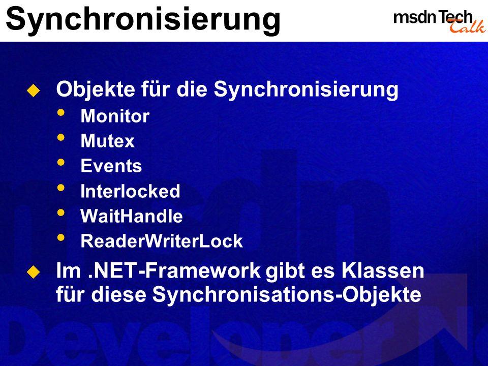 Synchronisierung Objekte für die Synchronisierung