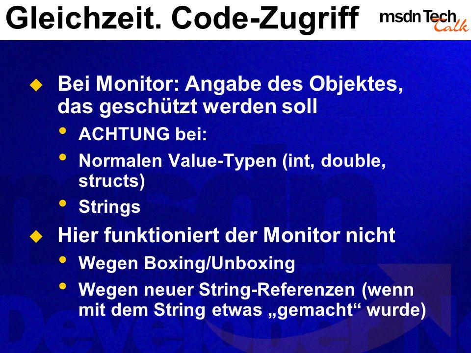 Gleichzeit. Code-Zugriff