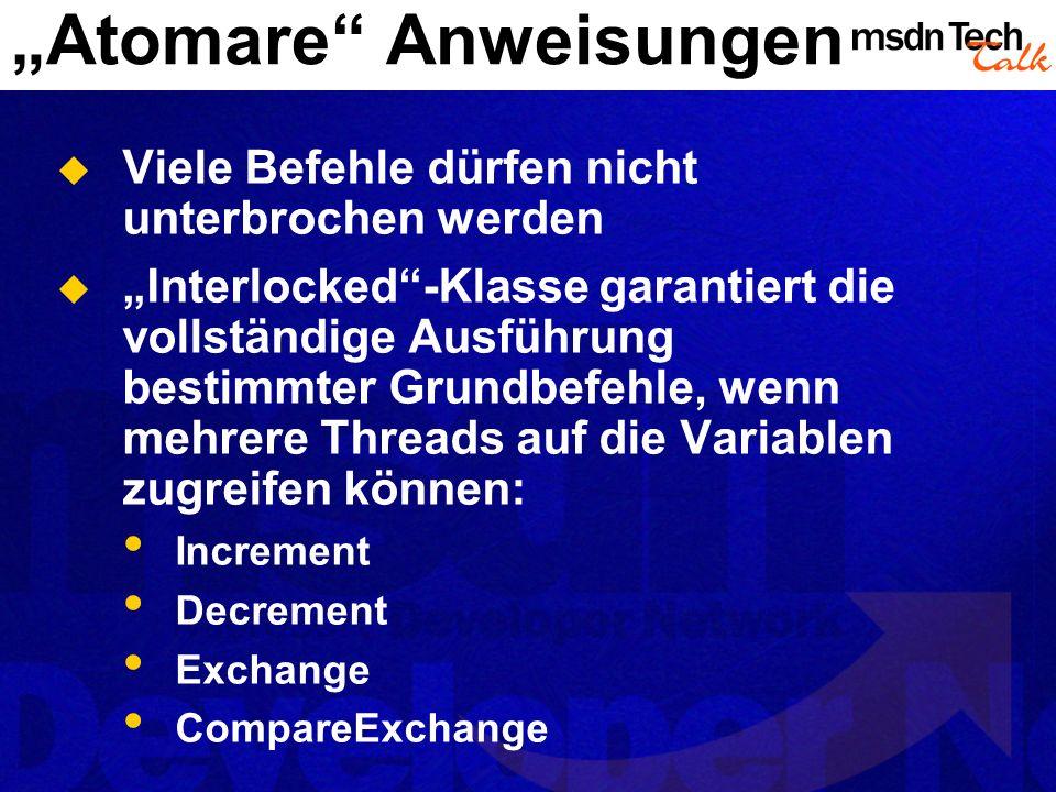 """""""Atomare Anweisungen"""