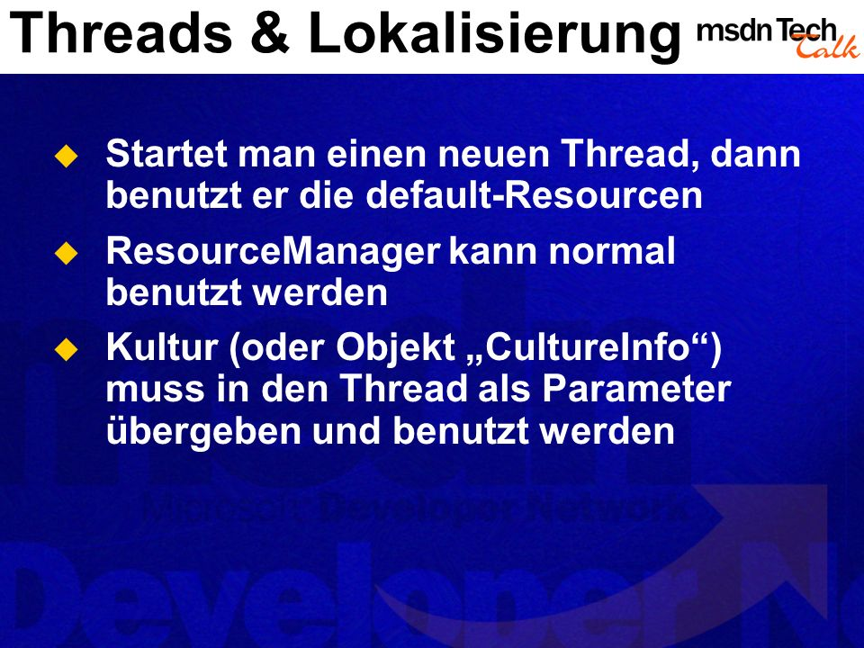 Threads & Lokalisierung