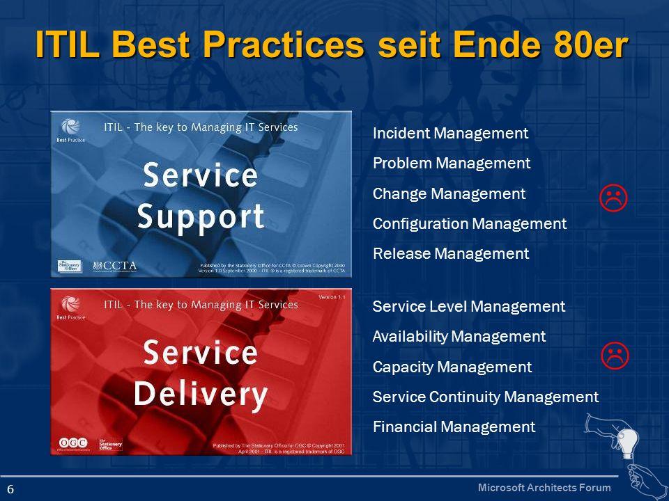 ITIL Best Practices seit Ende 80er