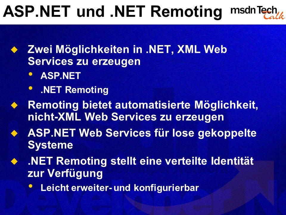 ASP.NET und .NET Remoting