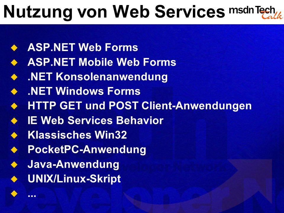 Nutzung von Web Services