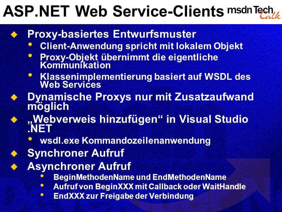 ASP.NET Web Service-Clients