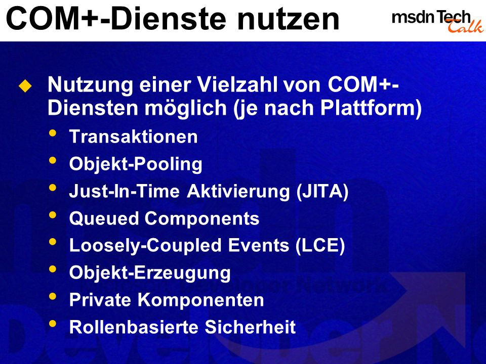 MSDN TechTalk – <<Monat JJJJ>> <<Thema>> 37