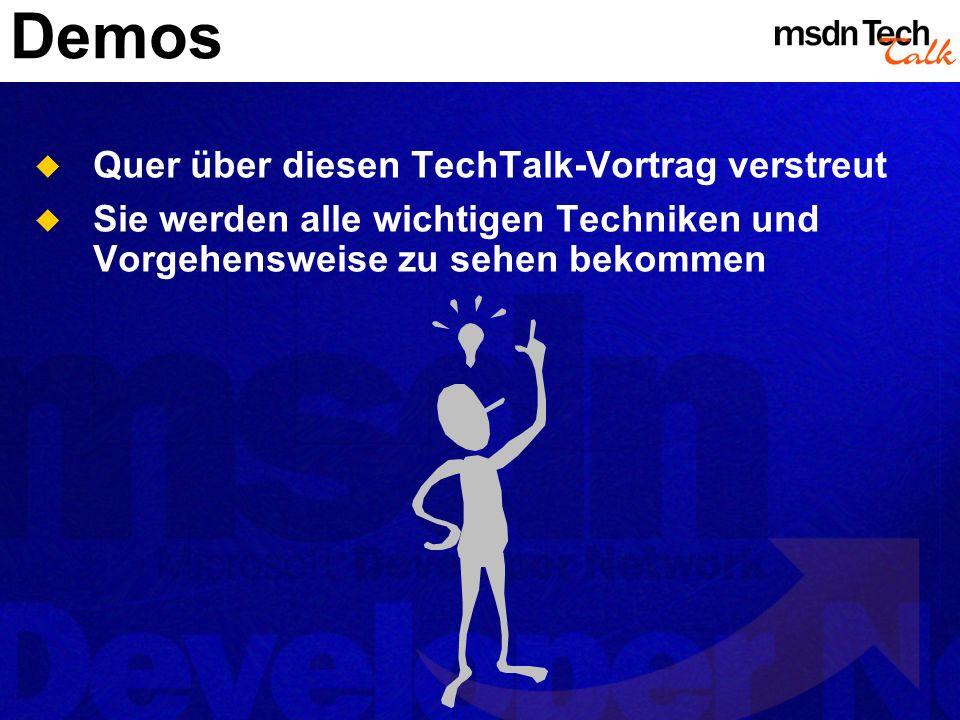 Demos Quer über diesen TechTalk-Vortrag verstreut