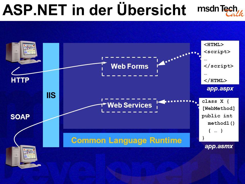 ASP.NET in der Übersicht