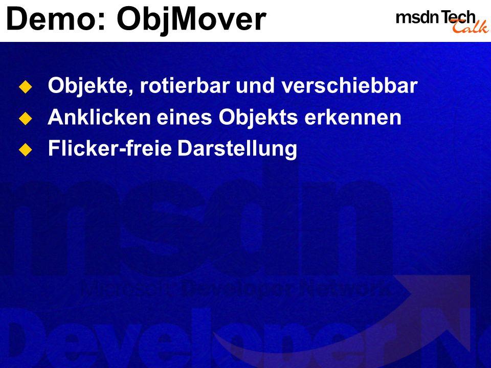 Demo: ObjMover Objekte, rotierbar und verschiebbar