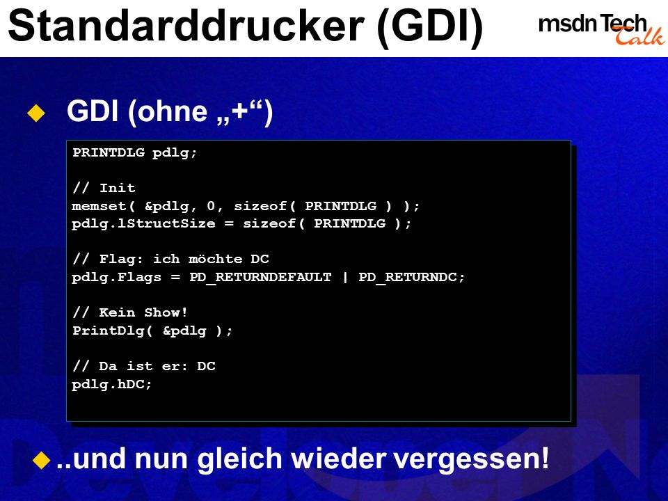 Standarddrucker (GDI)