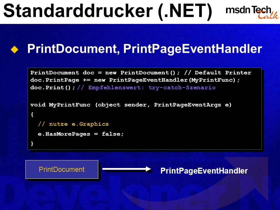 Standarddrucker (.NET)