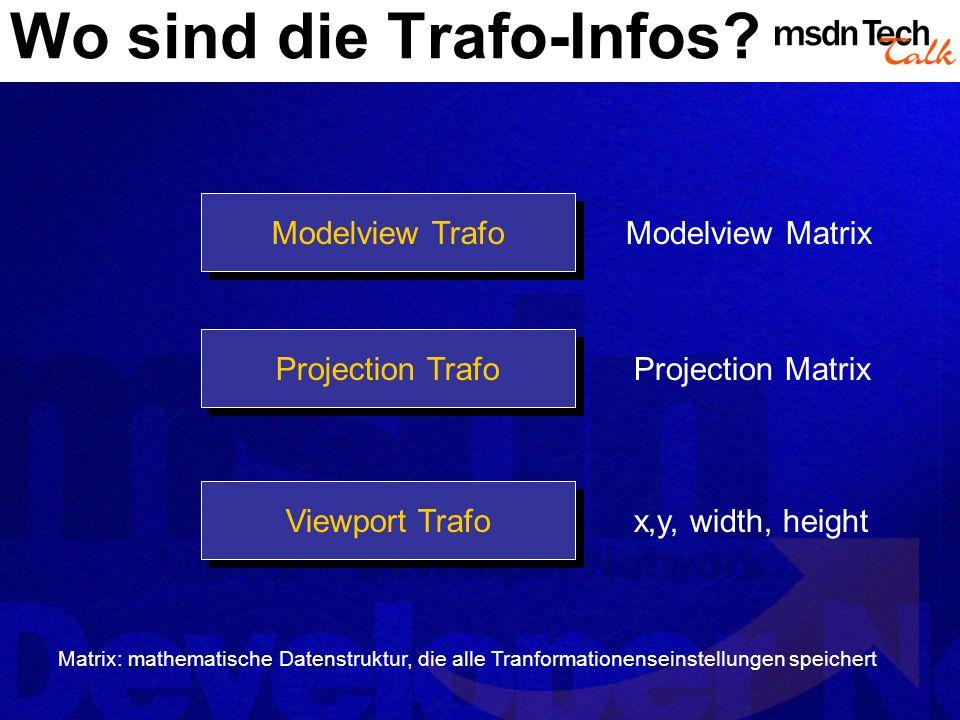 Wo sind die Trafo-Infos