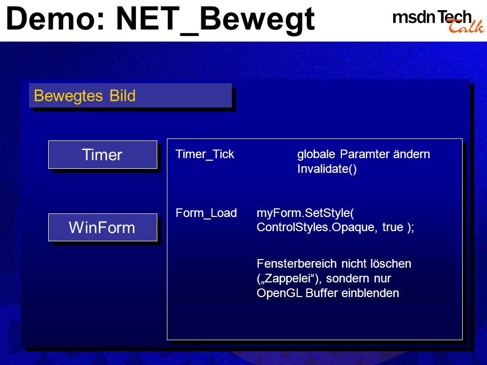 Demo: NET_Bewegt Bewegtes Bild Timer WinForm