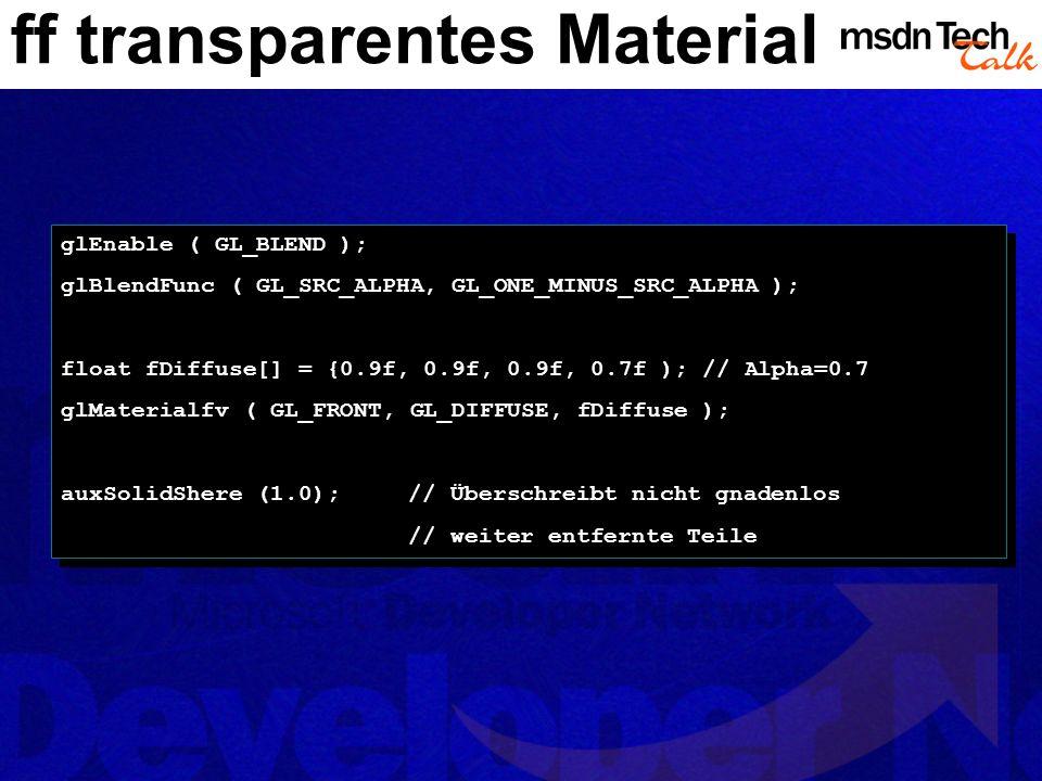 ff transparentes Material