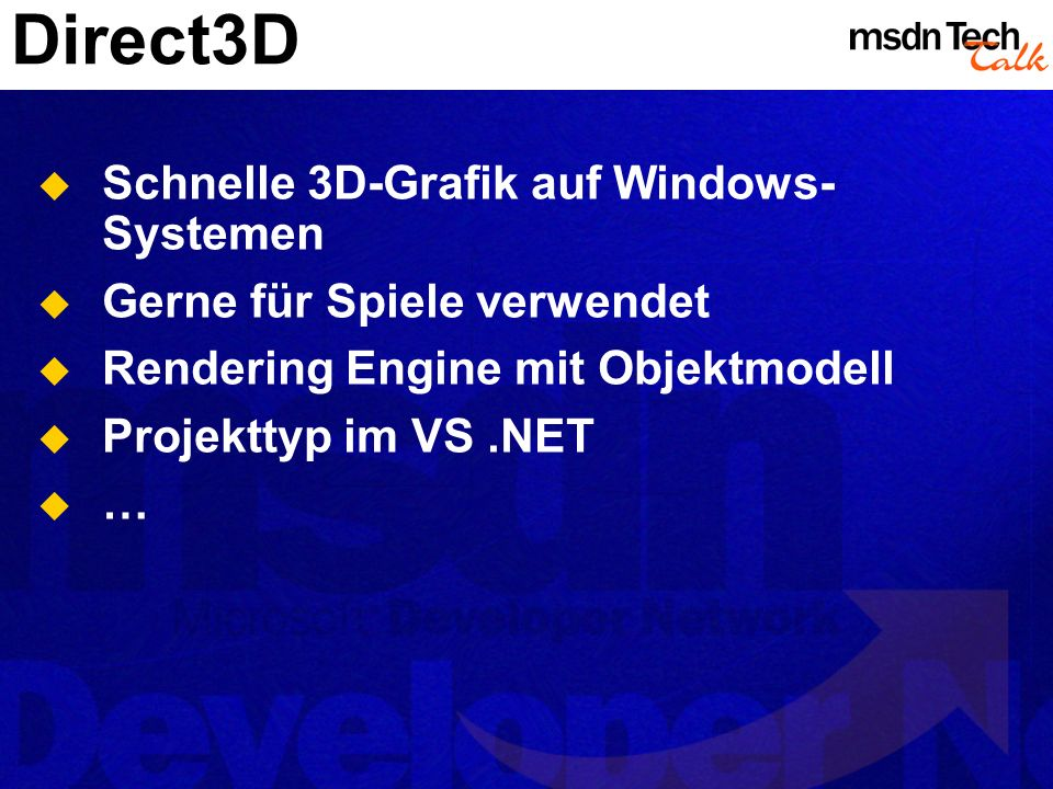 Direct3D Schnelle 3D-Grafik auf Windows-Systemen