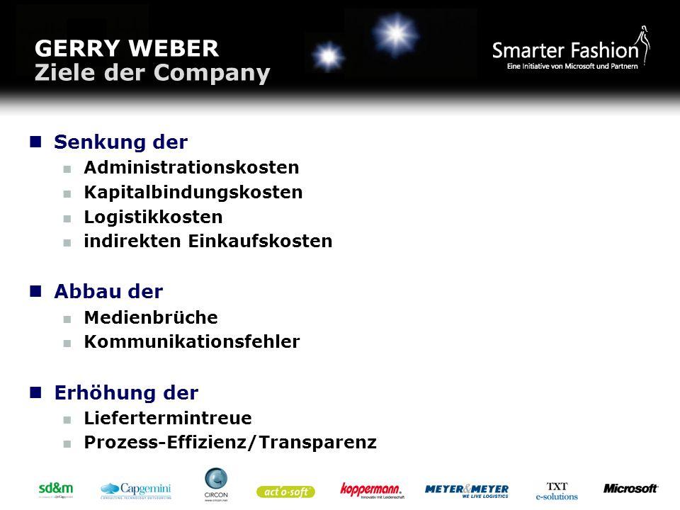 GERRY WEBER Ziele der Company