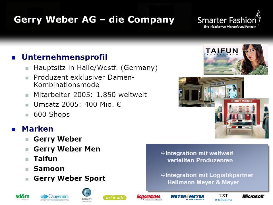 Gerry Weber AG – die Company