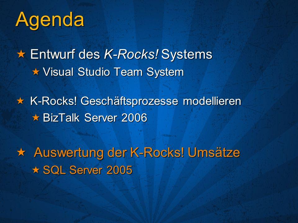 Agenda Entwurf des K-Rocks! Systems Auswertung der K-Rocks! Umsätze
