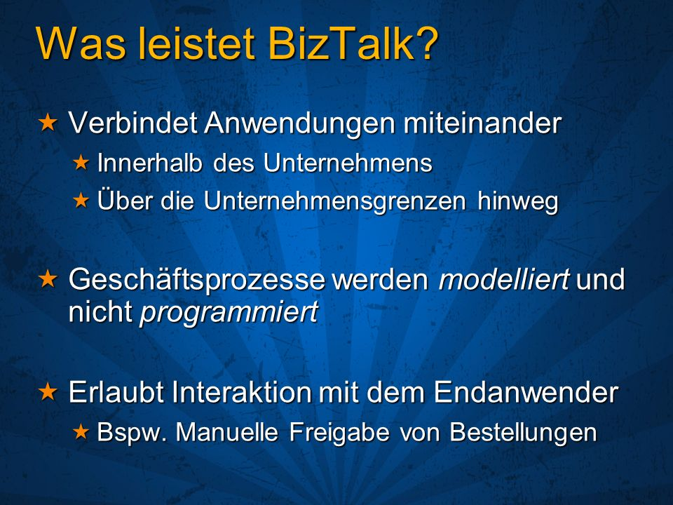 Was leistet BizTalk Verbindet Anwendungen miteinander