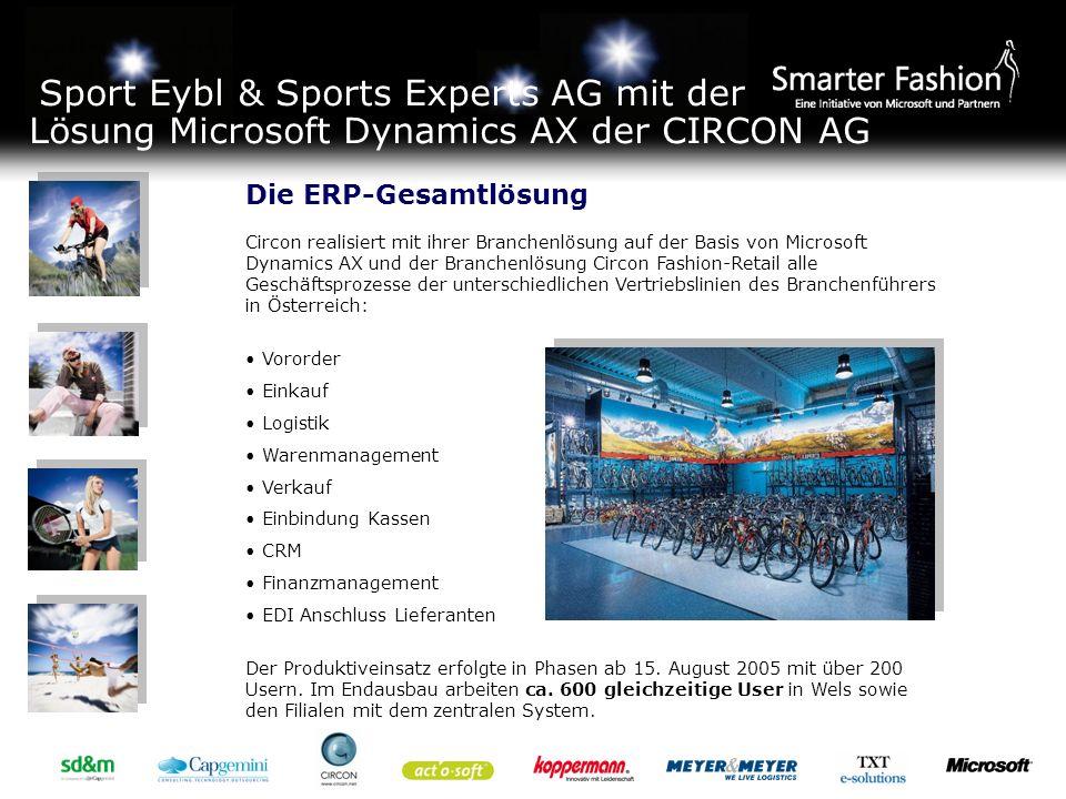 Sport Eybl & Sports Experts AG mit der Lösung Microsoft Dynamics AX der CIRCON AG